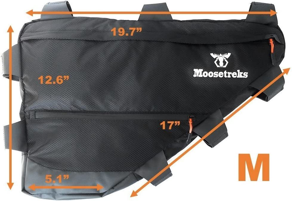 Moosetreks Road//Touring Bike Full Frame Bag Large Medium Commuting Full Frame Pack 14L Small Bikepacking 6.5L 12L Bicycle Touring   Water Resistant