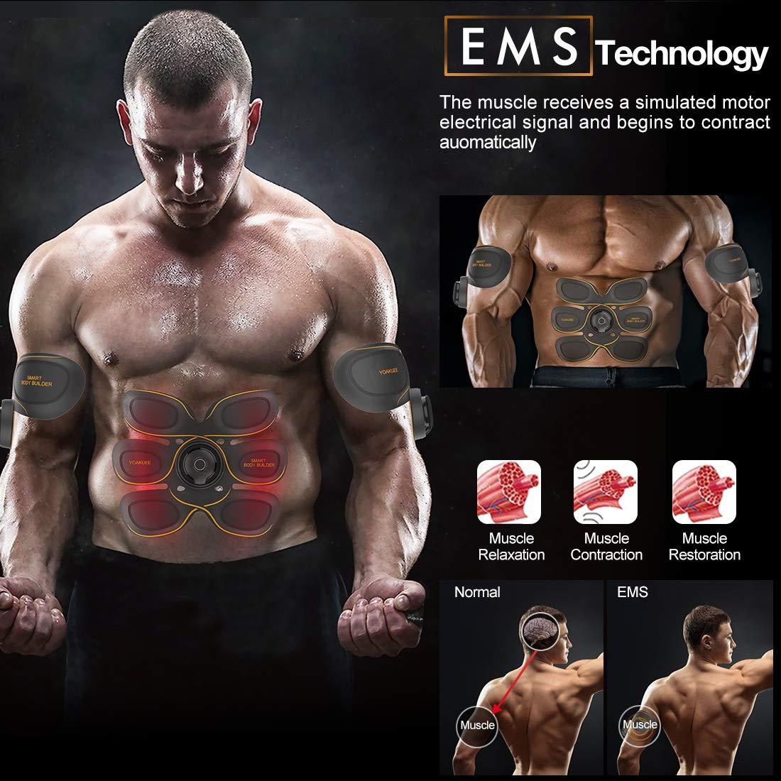 YOAKUEE Electroestimulador Muscular Abdomina Controllo Tramite Smartphone-50 Niveles