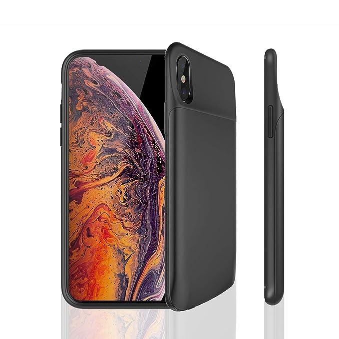 PADITECH - Carcasa de batería para iPhone X/XS, 6000 mAh ...