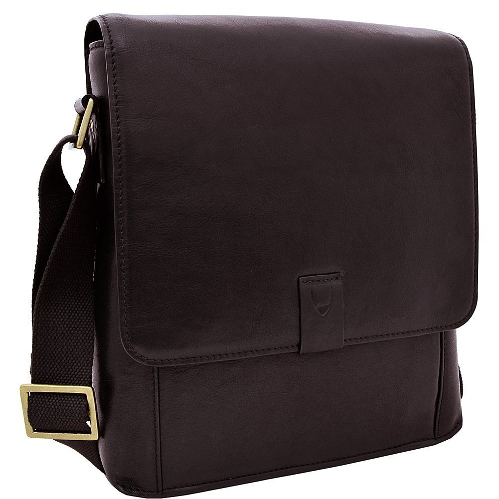 Hidesign Aiden Genuine Leather Medium Crossbody Men/Women Shoulder Messenger Bag / Travel Bag / 10.5'' iPad Bag, Brown