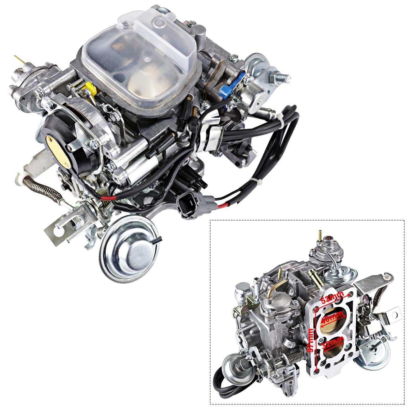 ALAVENTE 21100-35463 Carburetor Carb for Toyota Pickup Trucks 1988-1990 22R Engine (automatic choke)