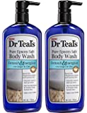Dr.Teals Pure Epsom Salt Body Wash Detoxify and Energize - Set of 2 with Ginger and Clay