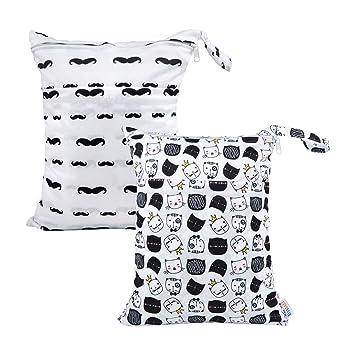 Amazon.com: ALVABABY - 2 bolsas de pañales de tela ...