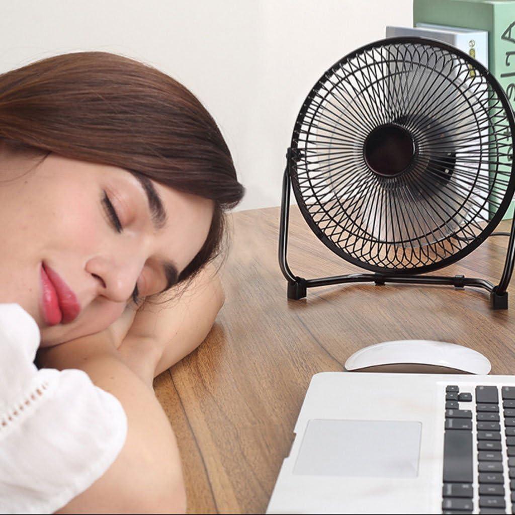 Color : Black Student Dormitory Bed Fan Fans 8 Inch Mini USB Fan Portable Desktop Desktop Office Home Travel Indoor Outdoor Silent Fan Home Cooling Fans