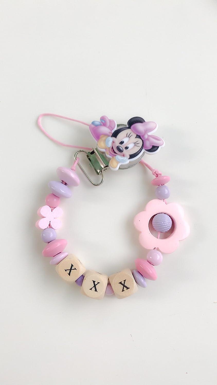 Ketten Tür Schnuller rosa Minnie Disney | anpassbare Name