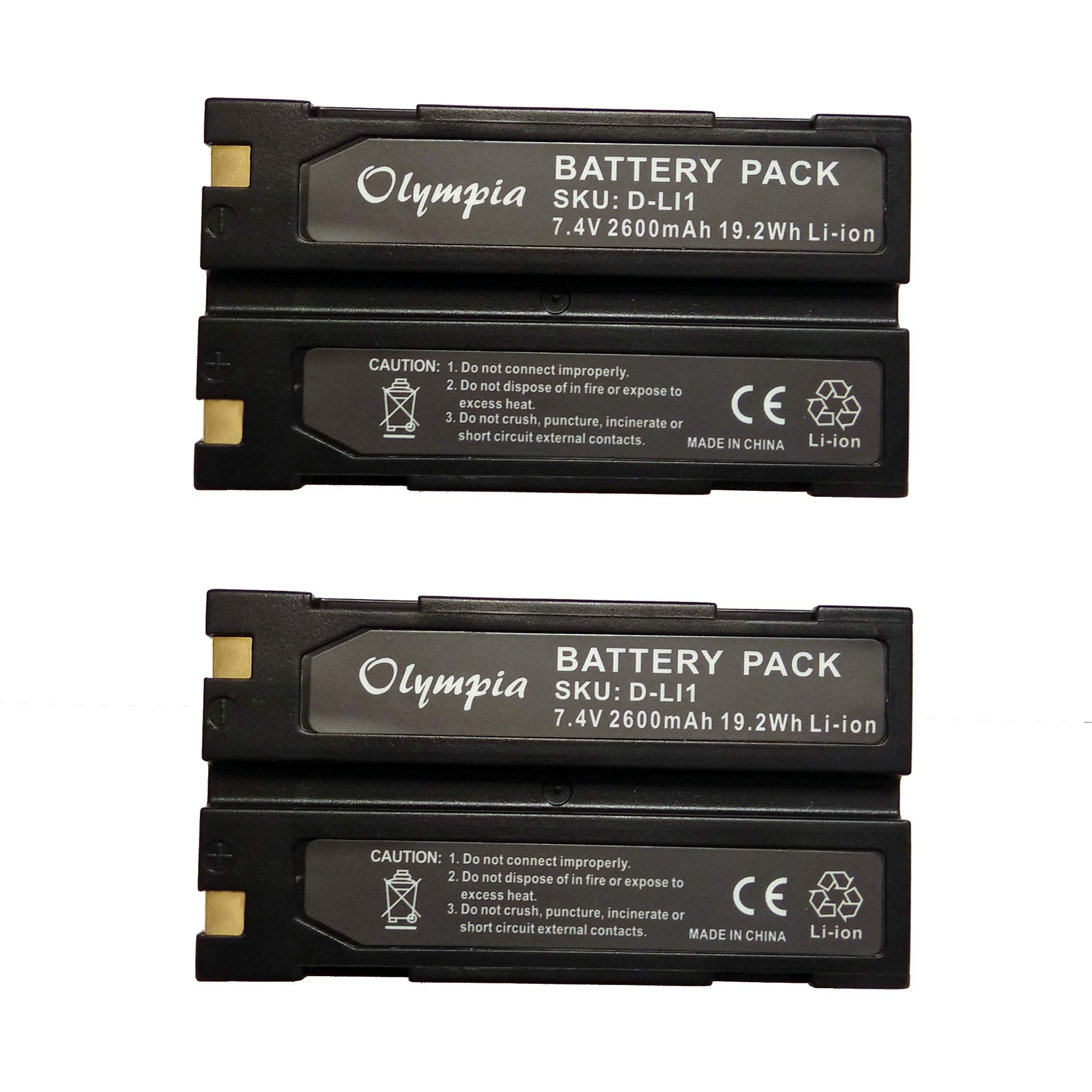 2 Pack of Trimble 54344 Battery - Replacement for Trimble TR-R8 GPS Battery (2600mAh, 7.4V, Li-Ion) by Olympia Battery