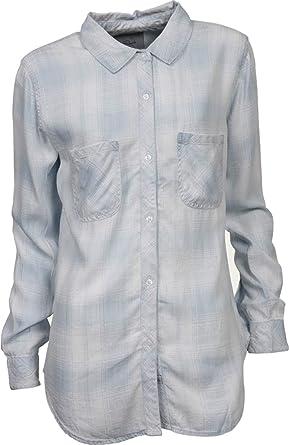 Rails Mujer Camisa Blusa Carter En Azul Claro Cuadros Melange Plate L: Amazon.es: Ropa y accesorios