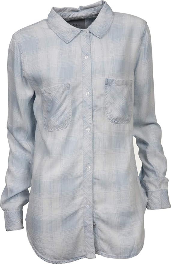 Rails Mujer Camisa Blusa Carter En Azul Claro Cuadros Melange ...