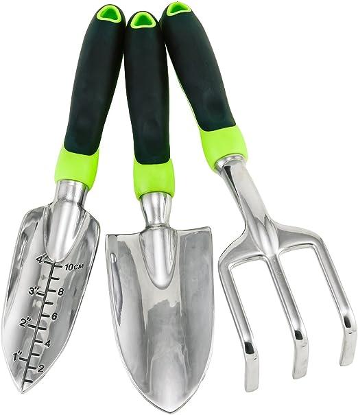 Jardinería Tool Set – 3 pieza kit de huerto urbano con mango de ...