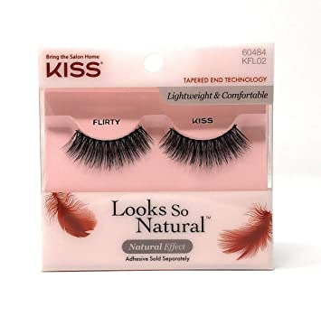 0272ac62d8c Amazon.com : Kiss Looks So Natural Lashes Flirty (6 Pack) : Beauty