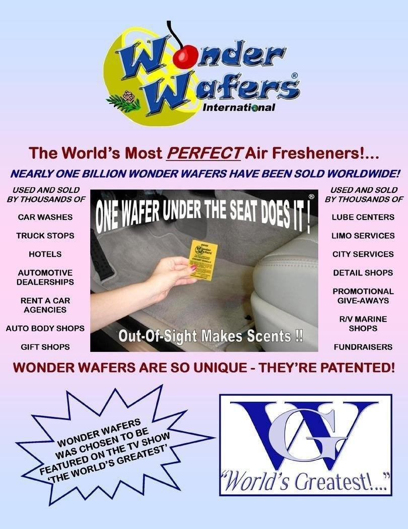Amazon com wonder wafers 25 ct individually wrapped new leather air fresheners automotive