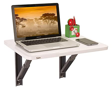 Wudore Compacto Urban Homes Wall Mounted Folding Laptop Table (White)