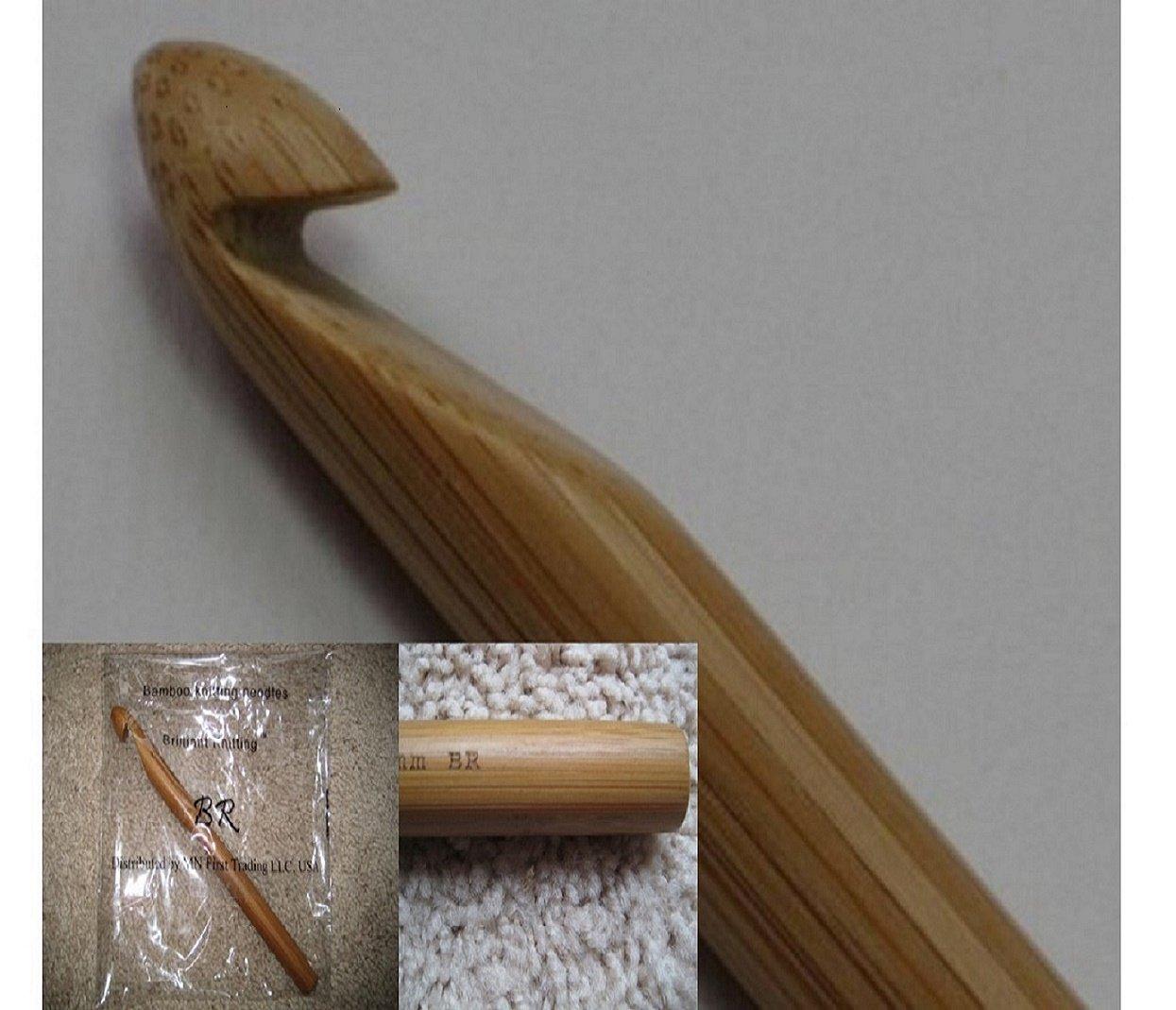 BrilliantKnitting (BR brand, registered, ) Jumbo bamboo crochet hook Size 22 mm (US T)
