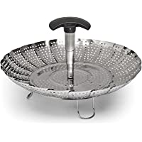 OXO Good Grips Stainless Steel Steamer with Extendable Handle, Silver (1067247)