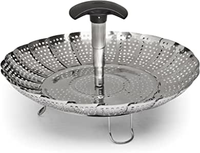 OXO Stainless Steel Good Grips Steamer with Extendable Handle, 7""