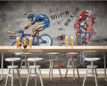 HRXBH Mural 3D Gimnasio De Bicicleta Gris Fondo De Pantalla ...