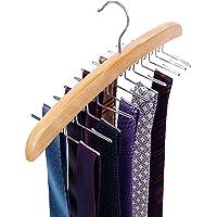 Ohuhu Wood 24 Tie Hanger Organizer Rack, 4-Pack