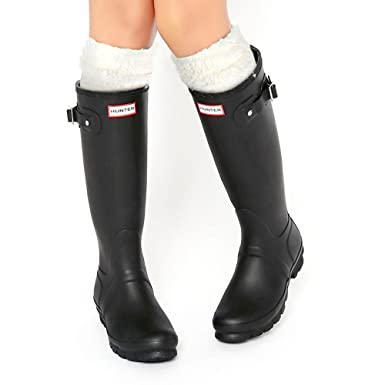 c05c88beb8a3b Amazon.com: TPLB Thermal Fleece Welly Socks Compatible for Hunter Tall Rain  Boots: Clothing