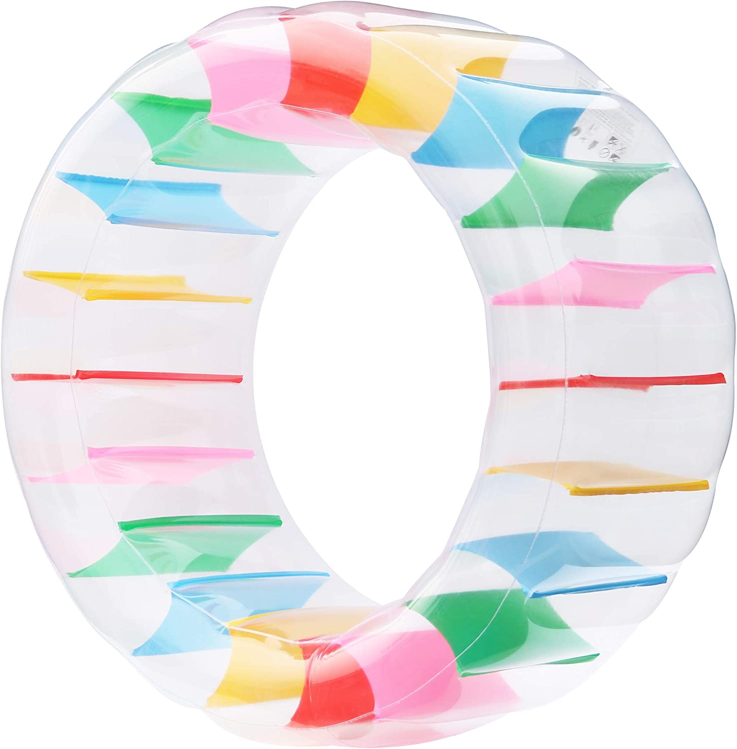 Kurala Inflatable Water Wheel, Giant Roller Float, Colorful Swimming Pool Toy for Kids Adults, Diameter 47
