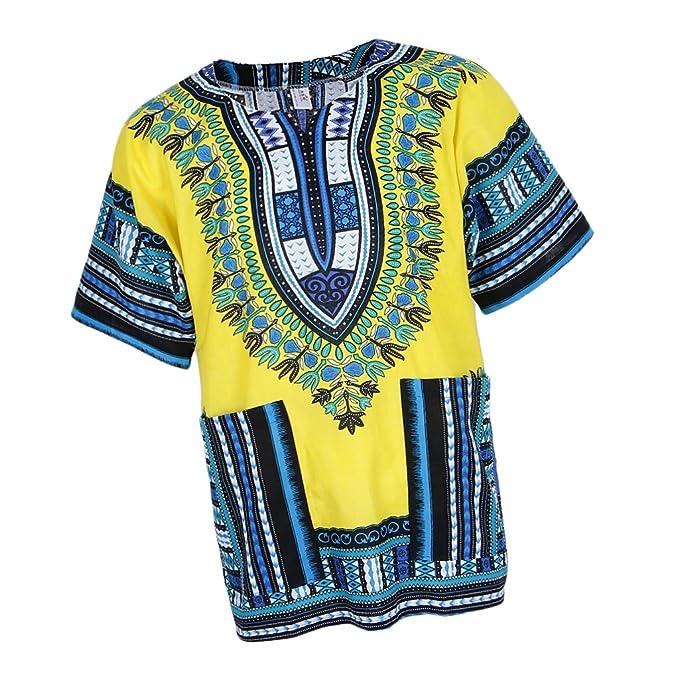 non-brand Sharplace Vestido Dashiki Africano Estampado Verano Mujer Vintage Ocasión Especial Navidad Fiesta Graduación