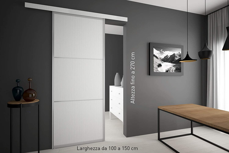 Puerta corredera exterior de pared de hasta 150 cm. Altura de ...