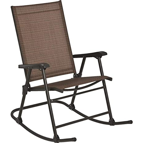 Outdoor Expressions Orleans Folding Sling Rocking Chair