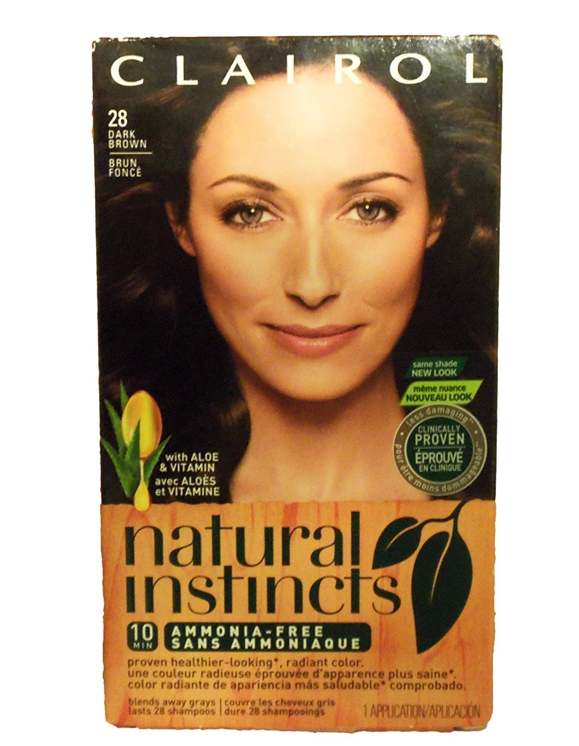 Cheap Clairol Natural Instincts Haircolor, #28 Nutmeg Dark Brown (Pack of 2) for sale