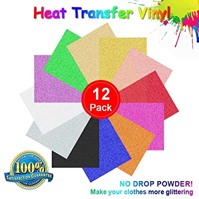 "RCruning-EU Hojas de Vinilo Autoadhesivo Heat Transfer Vinyl- 12 Pack of 12 x 10"" Sheets Adhesive Vinyl Iron-On Transfer: Hogar"
