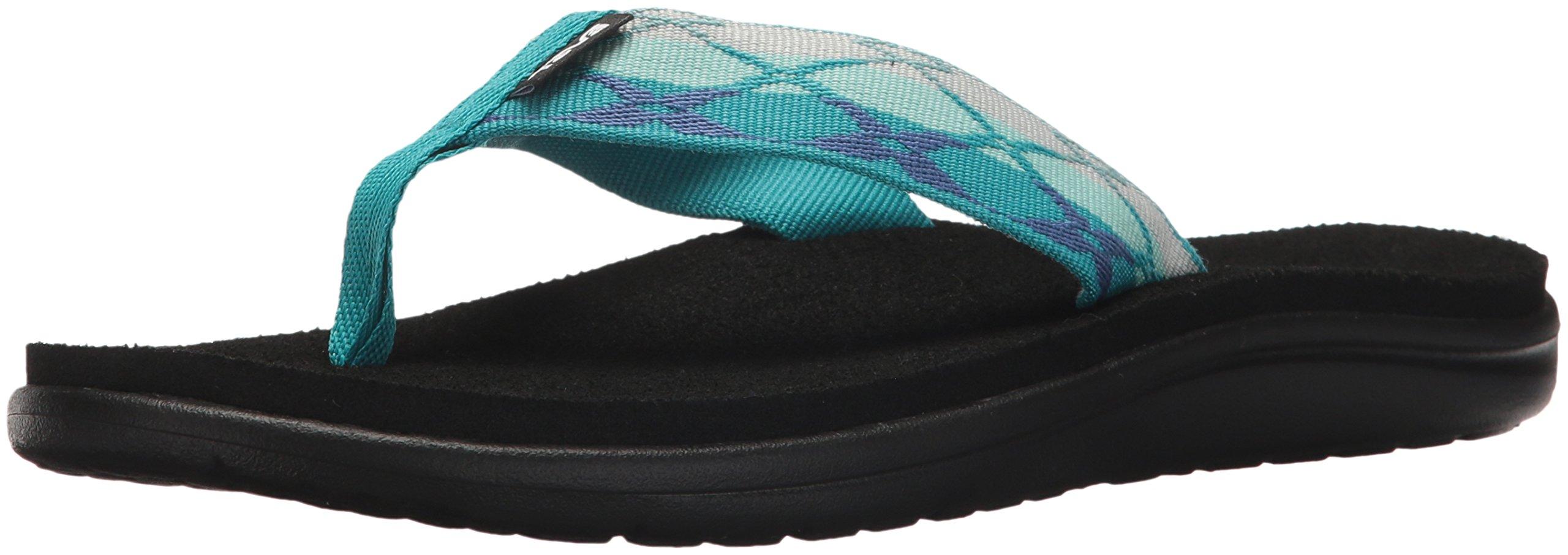 Teva Womens Women's W Voya Flip-Flop, Terre Blue, 8 M US