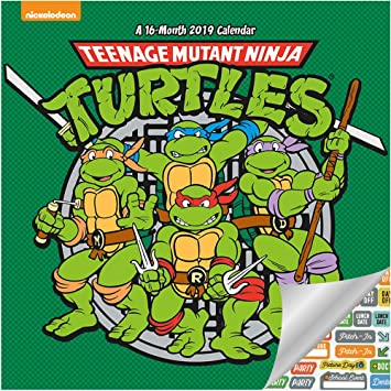 Amazon.com: Calendario 2019 de las Tortugas Ninja de Teenage ...