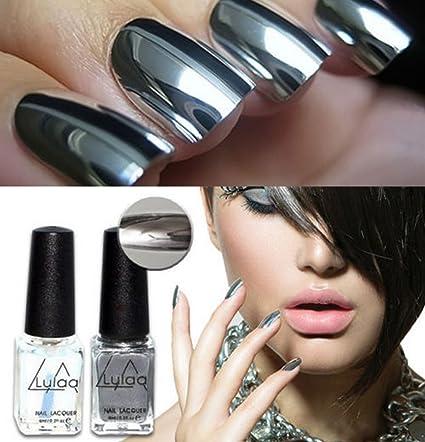 Buy Generic 2016 Fashion Silver Mirror Effect Metal Varnish Top Coat