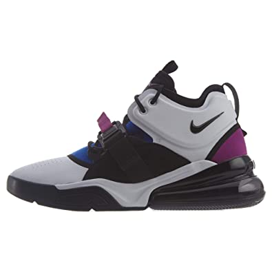 new product fa996 842a3 Nike Air Force 270, Chaussures de Basketball Homme, Multicolore  (White Black