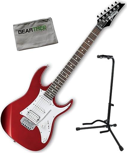 Ibanez grx40zca Gio RX guitarra eléctrica Candy Apple w/soporte ...