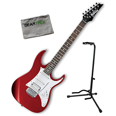 Ibanez grx40zca Gio RX guitarra eléctrica Candy Apple w/soporte para guitarra y gamuza de