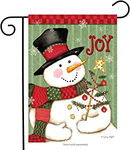 Briarwood Lane Snowman Joy Christmas Garden Flag Primitive Holiday 12.5