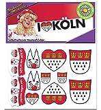 Hautaufkleber Köln Accessoire Köln Tattoo Aufkleber Körperschmuck Wappen Dom Party Kölner Straßenkarneval Festumzug Karneval Kölle Alaaf