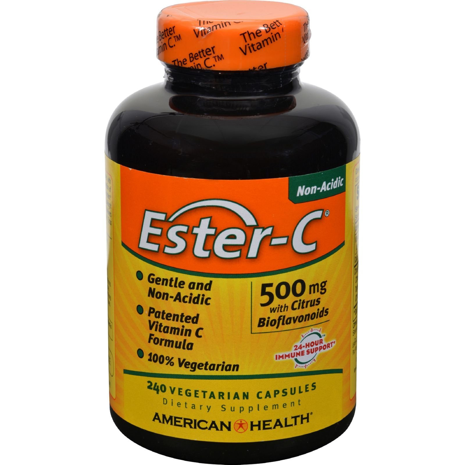 4 Pack of American Health Ester-C with Citrus Bioflavonoids - 500 mg - 240 Vegetarian Capsules - - -