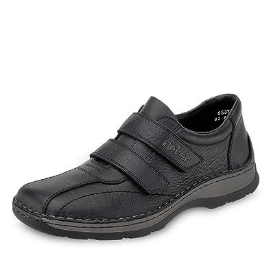 erstklassiges echtes begrenzte garantie gemütlich frisch Rieker Men's Double Strap Leather Slip On Shoe (05374-00)