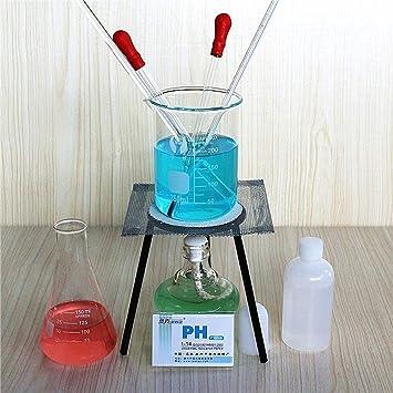Laboratorio Básico Químico Kit de instrumentos de vidrio, trípode ...