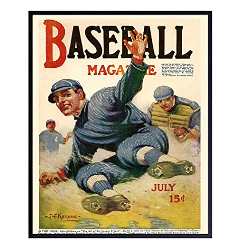 Baseball Artwork Kids Bedroom Decor Home Decor The Great National Game Poster Vintage Baseball Housewarming Gift