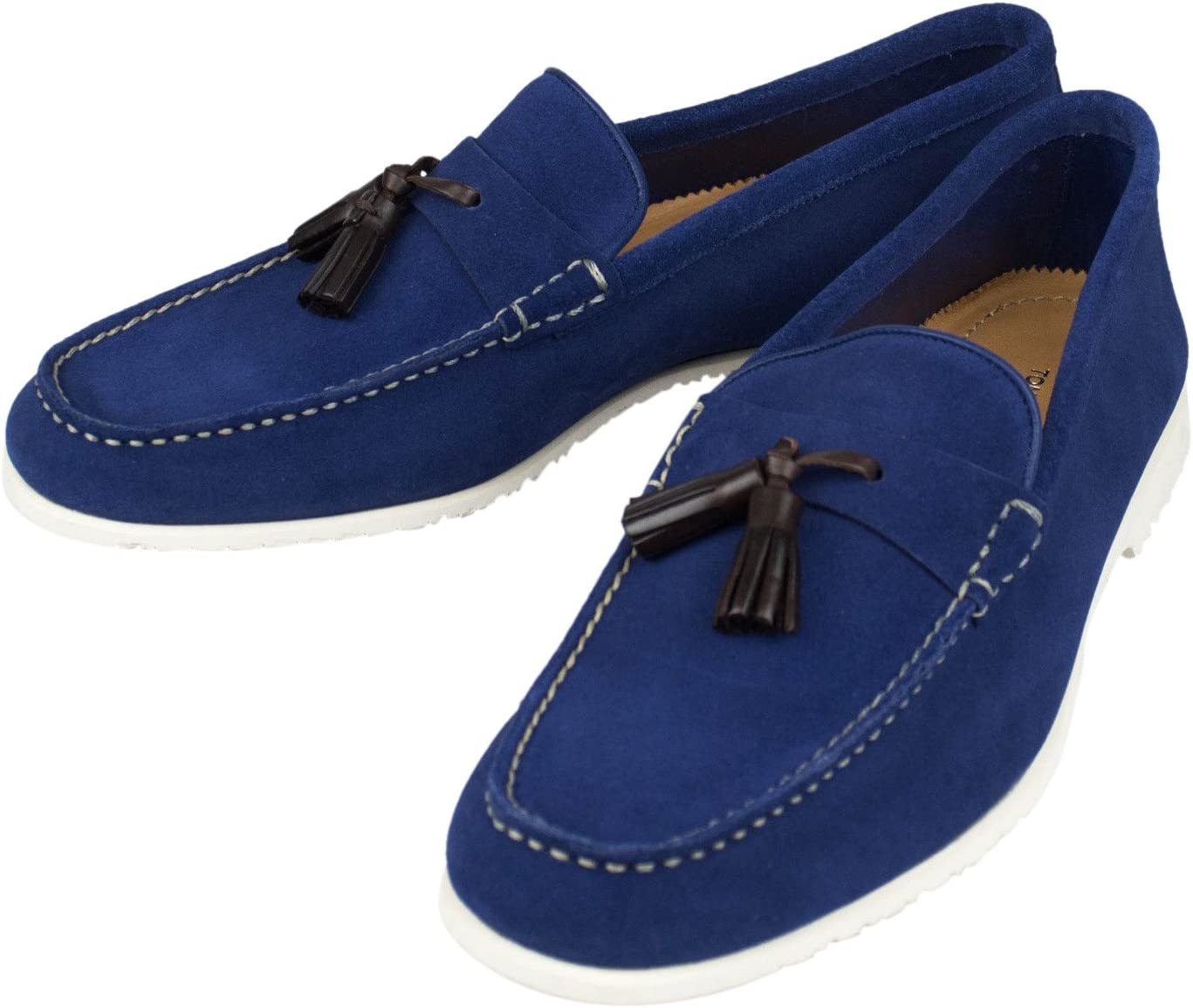 TOM FORD Blue Suede Leather Tassel