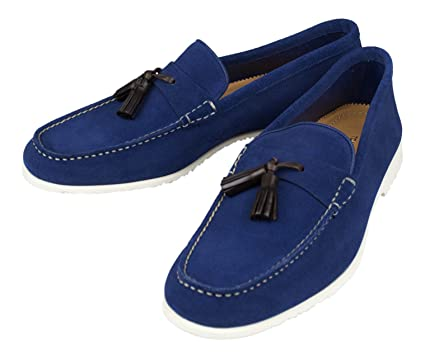 dd2f1fa4092d Amazon.com   TOM FORD Blue Suede Leather Tassel Loafers Shoes Size ...