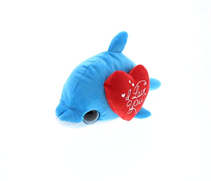 Amazon Com Dollibu Blue Dolphin Big Eye I Love You Valentines