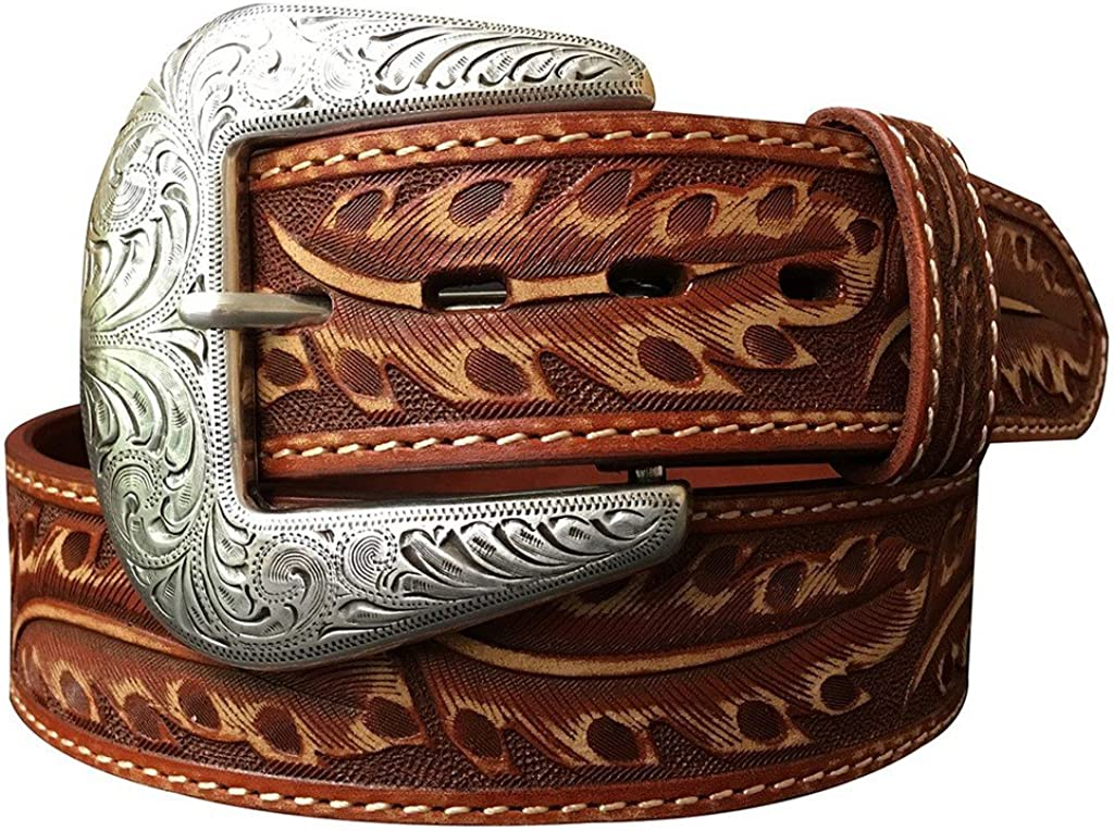 Roper Mens Feather Brown Belt Belt