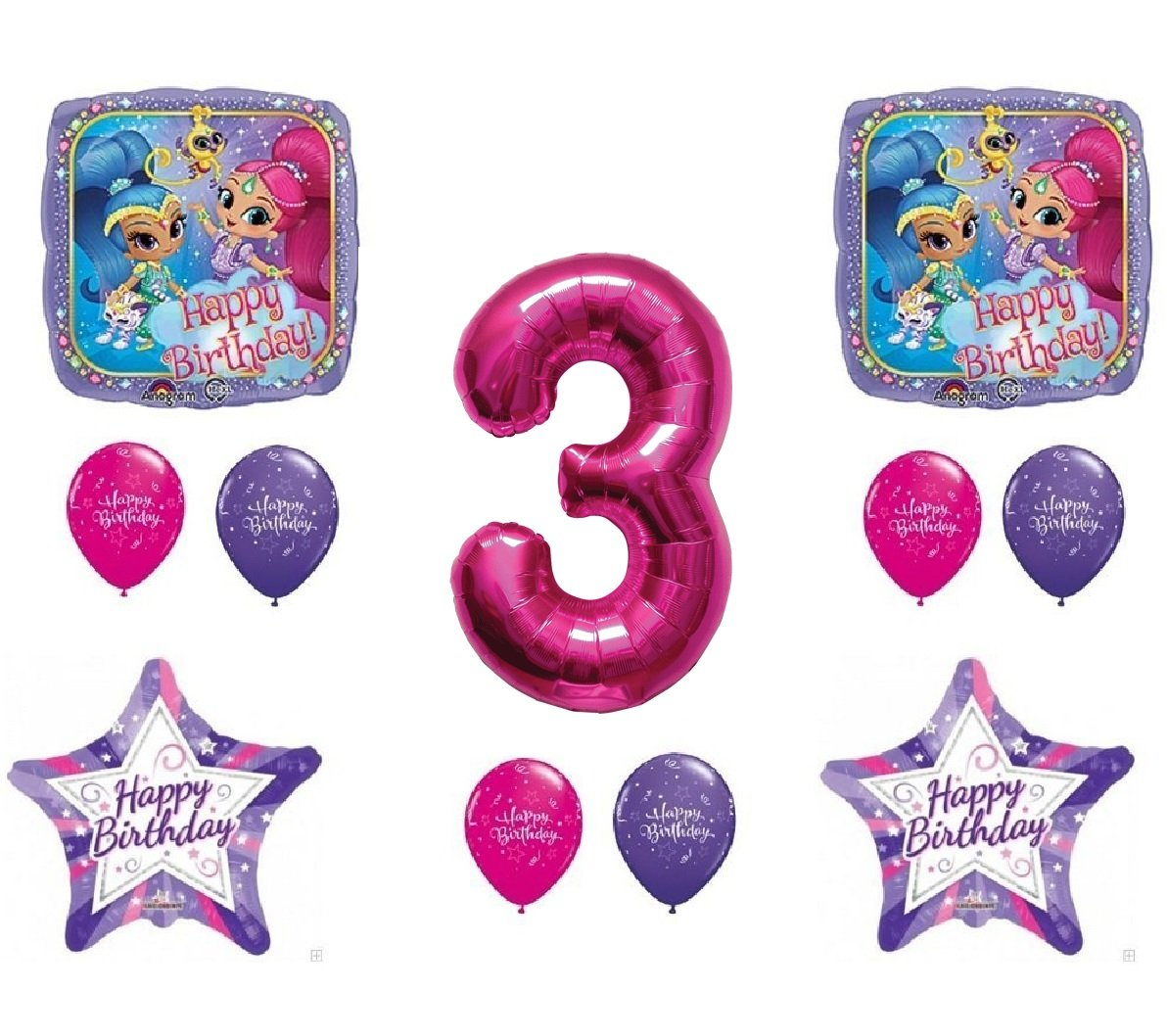 Amazon Shimmer And Shine 3rd Third Happy Birthday Party