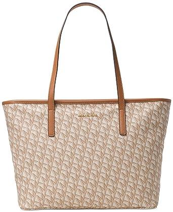 81ec47e8c926 Amazon.com: Michael Kors Hayley Emry Large Top Zip Bag-in-Bag Tote MK  Signature PVC Acorn: Clothing