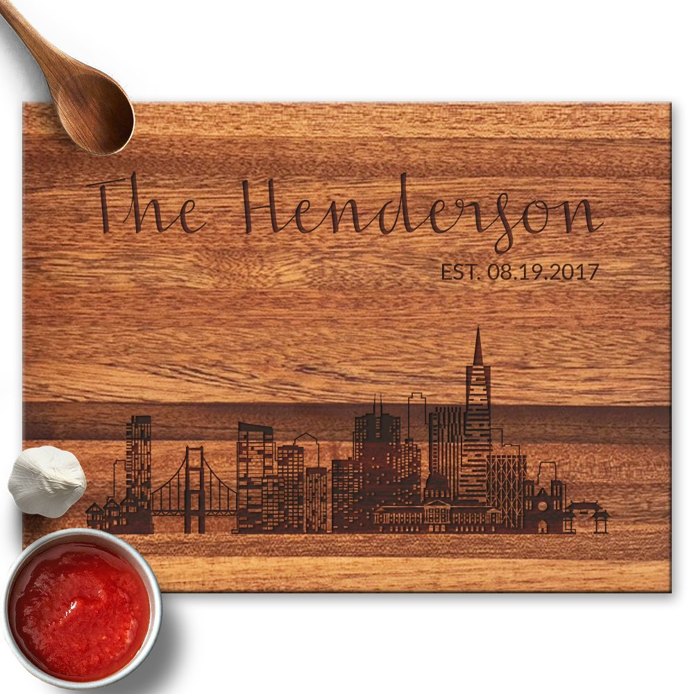 Froolu san francisco City small cutting board for Family & Friends Christmas Gifts by Froolu