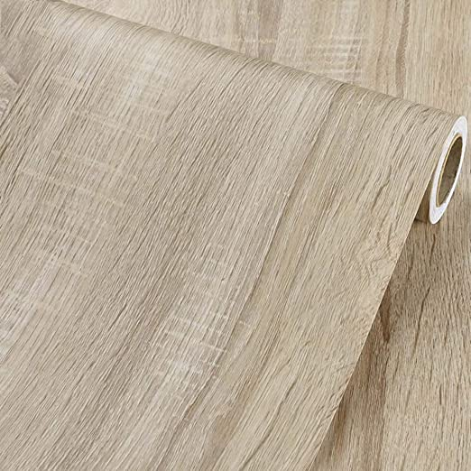 Amazon Com Glow4u Self Adhesive Vinyl Faux Light Wood Grain Contact Paper Shelf Liner For Kitchen Cabinets Table Countertop Desk Furniture Door Arts Crafts Decor Sticker Rustic 24x117 Inches