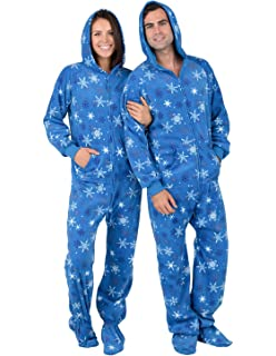 Footed Pajamas - Its A Snow Day Adult Hoodie Fleece