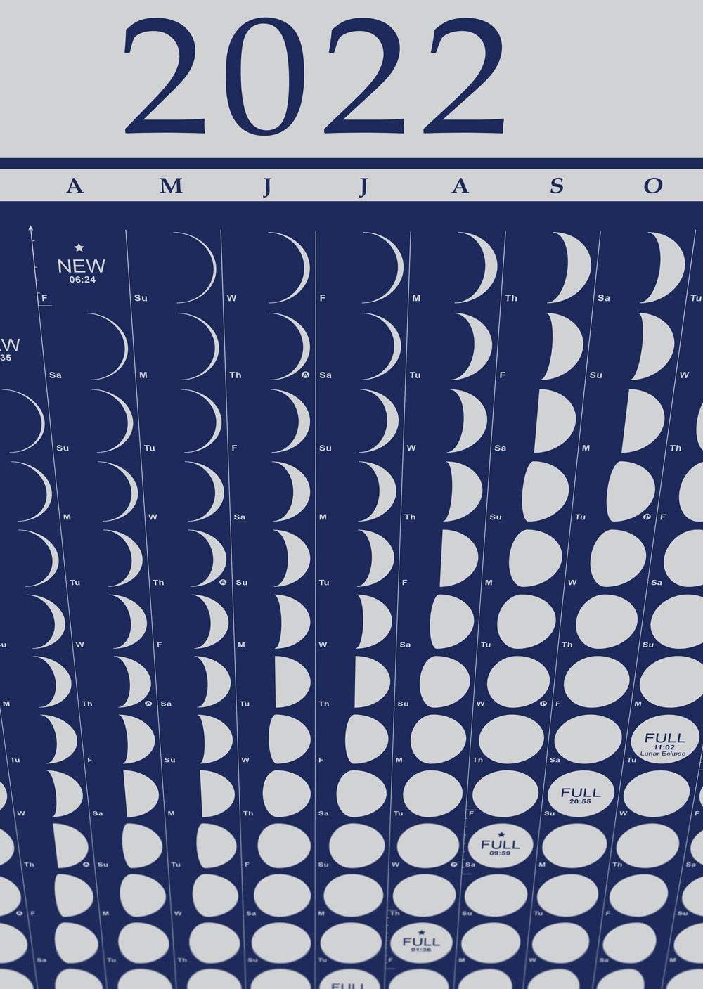 Celestial Calendar 2022.Amazon Com Moon Calendar 2022 Lunar Phases Moonlight Everything Else